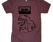 Vintage 80's Cassette Tape T Shirt Rock and Roll - American Apparel Tshirt - S M L XL 2XL