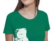 Astronaut Guitar Outer Space T-Shirt - American Apparel Tshirt - S M L XL (Color Options)