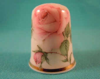 Thimble Bone China with Delicate Rose
