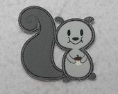 Squirrel - MADE to ORDER - Choose COLOR and Size - Tutu & Shirt Supplies - fabric Iron on Applique Patch 7350