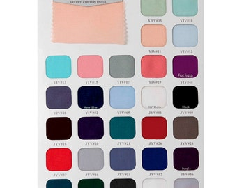 Swatch Book of Chiffon with over 120 colors, Large Swatch Pieces Available (RenzRags)