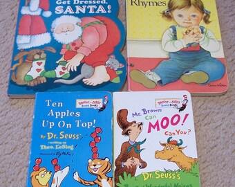 4 Board Books - Dr Seuss, Eloise Wilkin, Tomie dePaola