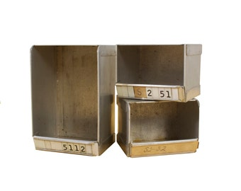 Set of 3 Metal Boxes