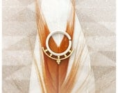 Kamani. Beleaf jewelry 14K Gold Septum Ring. Tribal fusion belly dance adornment. Tribal Gypsy piercing Jewelry