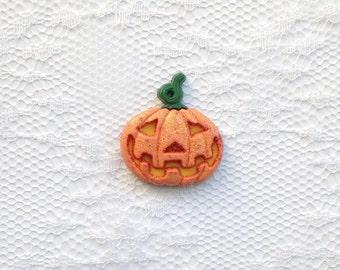 Jack-o-Lantern Glitter Pumpkin Halloween Fall Lapel Pin