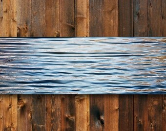 Divide - Blue and brown art - Blue and Brown canvas art - Blue and brown abstract - Blue and brown decor - Blue and brown wall art