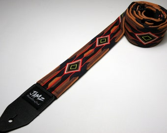 Southwestern style handmade guitar strap - Nevada Diamond