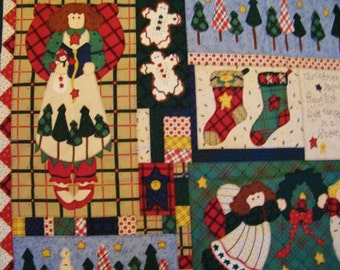 "Quilt Fabric Panel, Christmas Quilt, ""Starlight Angels,""  in Various sizes, Christmas Cheater, Leslie Beck, Cranston, New, Cheater Quilt,"