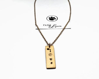 All You Need Is Love Necklace - Animallovers, doglovers, catlovers, rescue jewelry, dog jewelry, cat jewelry, gold, paw print, Swarovski