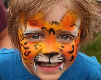 Halloween cosplay tutorial How to Paint a Tiger Face Paint Step by Step PDF file