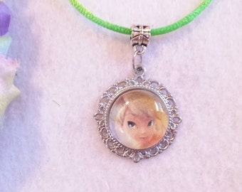 10 Tinkerbell Necklaces Party Favors.