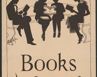 Books the Ideal Gift Vintage book promotion poster digital download