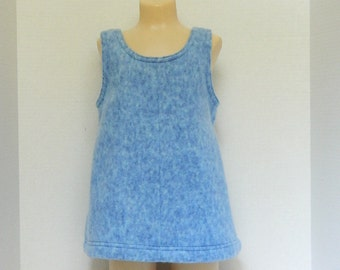 Girl's Blue Fleece Dress - Autumn to Winter Dress - Fleece Jumper - Size 3 Toddler Dress - Girls' Handmade Clothing - Easy On Jumper - Dress