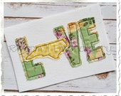 Raggy Applique North Carolina Love Machine Embroidery Design - 4 Sizes