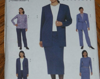 Retired Butterick Misses   Fast & Easy Pattern Jacket pants shirt  Size 8 10 12