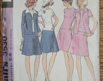 Vintage Retired McCalls  Misses and Womans Dress and Jacket  Pattern 3530 Size 16