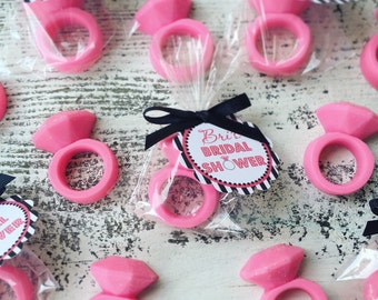 25 RING SOAPS {Favors} - Bridal Shower Favor, Wedding Favor, Engagement, Mothers Day, Bachelorette, Bling, Diamond Ring
