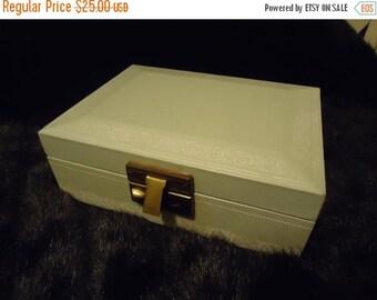 Now On Sale 1950's 1960's Vintage Home Decor Collectible Jewelry Box Mid Century Modern Light Blue Trinket Treasure Box