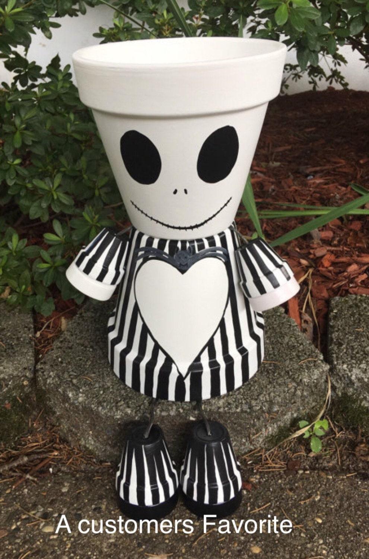 Jack squelette jardini re pot personne pot les par - Weihnachts gartendeko ...