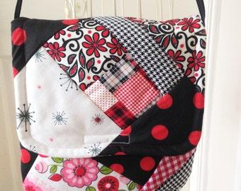 Patchwork Handbag, Patchwork Messenger, Gypsy Handbag, Hippie Handbag, Boho Messenger Bag, Boho Handbag, Crossbody Handbag,