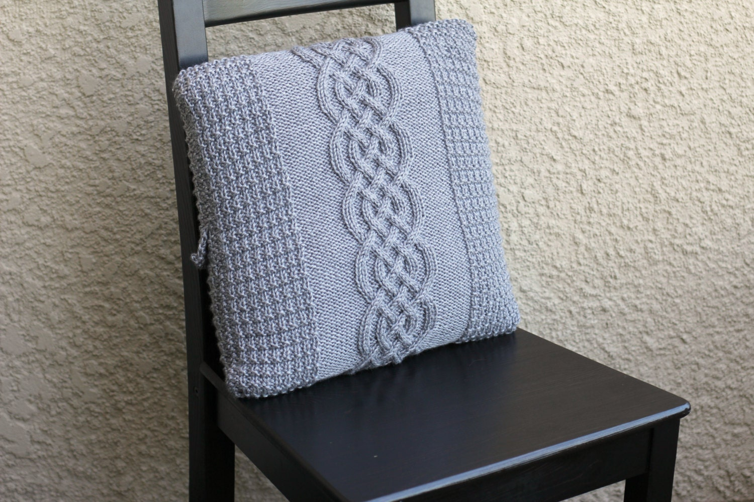 Cable Knit Pillow Pattern : Knit cable pillow case knit pillowcase decorative pillow