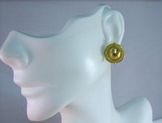 MMA-WAG Metropolitan Museum of Art 14kt Yellow Gold Etruscan Earrings