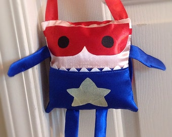 Super Hero Tooth Fairy Pillow and Tooth Fairy Receipts