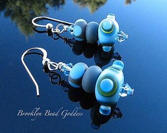 Lampwork Earrings Artisan Crafted Handmade Glass Beads SRAJD