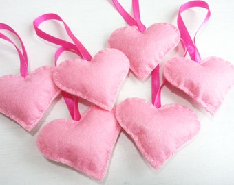 Color of Love  - Heart Ornaments (Pink) - Set of 6