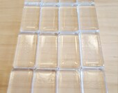 Glass Rectangle Tiles, Wholesale, Qty of 16, Beautiful Clear Magnifying Glass