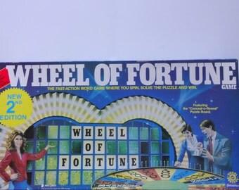Vintage Pressman Deluxe Wheel of Fortune  Board Game 1985