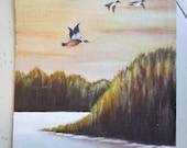 Mallard Duck Painting is Charming and Vintage