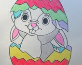 RESERVED FOR DAWN custom easter bunny