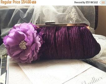 wedding clutch, Bridal clutch, Purple clutch, evening bag, Modern clutch, Flower bag, crystal clutch, formal clutch, modern party clutch