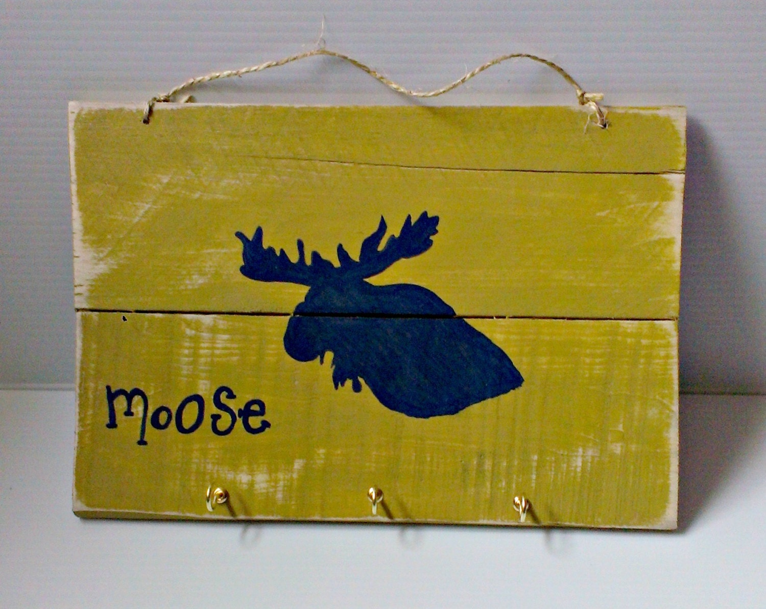 Handmade wood sign - Cottage Chic Moose Sign - Home decor wood ...