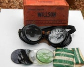 Willson Personal Protective Devices Industrial Safety Goggles Glasses Vintage With Extra Lenses