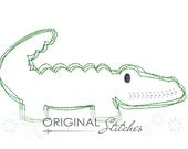 Quick Stitch Gator Embroidery Digitized Digital Design File 4x4 5x7 6x10
