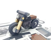 PAPERBIKE M2 - POSTCARD + PAPERCRAFT model in one! Perfect Holiday Gift for a Moto Lover!