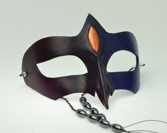 "Leather ""Nous"" Masquerade Mask"