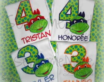 Ninja Turtle Birthday Shirt - Turtle Birthday Shirt