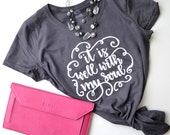 It is Well With My Soul Hand Lettered Graphic T-shirt