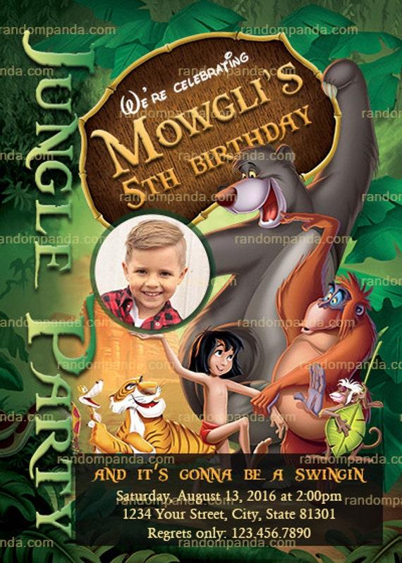 On sale personalize jungle book invitation mowgli party jungle il570xn stopboris Images
