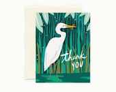 Egret Thank You Card