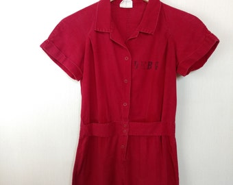 1940s Gym Romper Playsuit Small As Is