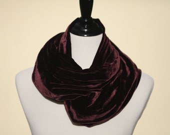 Soft Purple Velvet Scarf