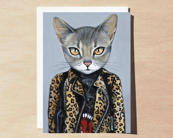 KAT - Holiday Greeting Card - Blank Inside - Cats In Clothes