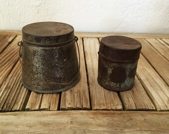 Antique Metal Tins