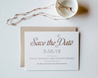Rose Gold Save the Date