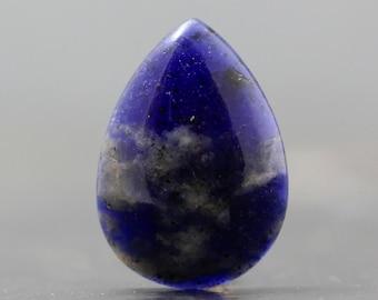 Sapphire Gemstone Cabochon - Precious Gemstone Cabochon Deep, Natural Blue Translucent Stone for Wire Wrap, Bezel Setting (CA5869)