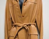 Vintage Deerskin Buckskin Coat DeerWear Western Cut Cowboy Belted